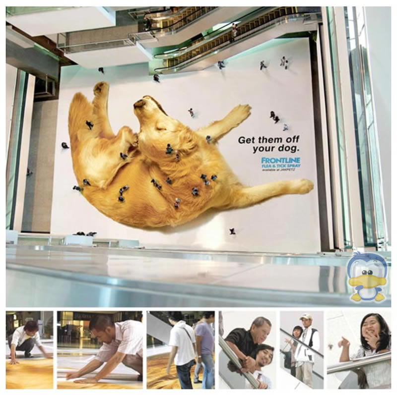 Interactive Marketing - Ambient Marketing - People as Fleas